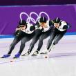 ピョンチャンオリンピック 女子団体追い抜き(パシュート)  金メダル🥇オランダのなが~~い鼻をへし折った❓❗️