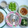 昨日の昼食と夕食