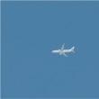 2017年9月24日,上空を飛ぶ飛行機