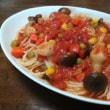 簡単トマトピューレのパスタ