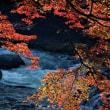 香嵐渓川と紅葉