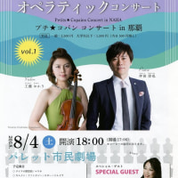 ヴァイオリン とピアノ と歌で楽しむ    オペラティックコンサート  8/4(土)   のご案内