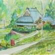 「猪名川町柏原の風景」を描きました