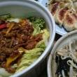 白菜レンジ蒸し肉味噌のせ