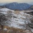 マイナス3℃、強風、無人の霧ヶ峰・車山肩を歩き下見する。