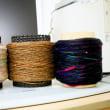 今日のガラ紡糸作り