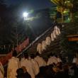 御鎮座記念祭【鶴岡八幡宮】篝火に浮かび上がる幽玄の舞