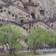 清明節の洛陽・龍門石窟