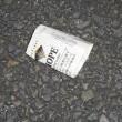 たばこの空箱5個、収集 レジ袋でゴミ拾い&街美化とパトロール