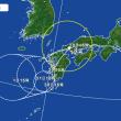 異例なコースの台風12号 7月29日(日)曇りのち晴れ