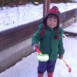 げ、まじ雪が・・・