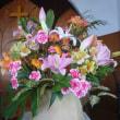 講壇を飾る花