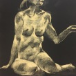 Nude-Muse-angel-Tableau-ヌード-芸術-アート-絵画:雪見酒