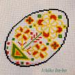 イースター用の卵模様の刺繍始めました