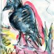 朝日記170921  Gonnbeh 権兵衛の種まきの絵本動画と今日の絵no 376Gombeh and crow