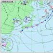 10月13日 アメダスと天気図。