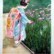 京都女性を描いてみました
