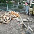 原木回収作業終了しました。