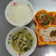 10月8日の運動会まで…その間、べべ・保育所の給食は今までどおり、陶器の食器で食べます。