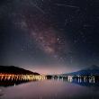 富士と天の川(河口湖)