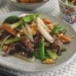 夕食は・・・ 牛肉と野菜の炒め物