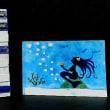 絵画販売・額付き水彩・原画「海物語」