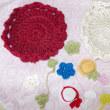 イチさんに、頂いた麻の糸で、コースターを作りました!!(^・^)