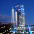 角田市:実物大模型HⅡロケット:ライトアップ:特撮