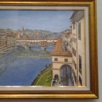 フィレンツェ ベッキオ橋04・・・・川面に写ったベッキオ橋