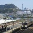 東海道本線は焼津駅から見える風景 (2018年3月)