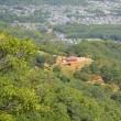 まち歩き西0962 嵐山山頂 付近からの 眺め 嵯峨野一帯がよく見える