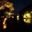 ジョグの後は松江水燈篭。 2018山陰の秋ジョグ1