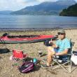 週末、芦ノ湖でカヌーをしてました。