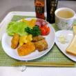最近の昼食。パン、冷やしニシン蕎麦、パスタ。