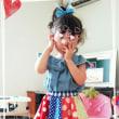 お客さま着画4☆カラフル⇔シンプルお花型のリバーシブルサーキュラースカート