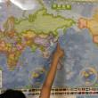 スクリーンマップ 世界全図 国旗入り