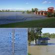 台風21号による荒川の増水