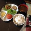 にんじんモチと麦ご飯