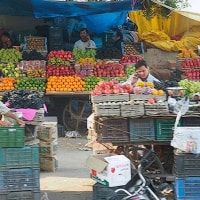 Fruit store☆インドの街角から