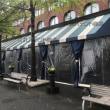 ボストンのオシャレなテント【庇テント・間仕切り】