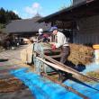 蕎麦の脱穀