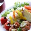 チキンと野菜の定食