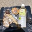 荒川遊園地内のベンチで昼食