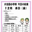 今日(12/8金)の給食