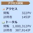 祝100万ヒット\(^o^)/