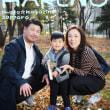 『家族写真 秋の光の中で 』年賀にもね♪ 札幌格安写真館フォトスタジオ・ハレノヒ