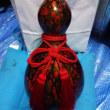 瓢箪(ひょうたん)の研ぎ出し細工 №16・・・飾り紐の色の選択