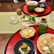鶏団子のスープの夕ご飯