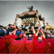 石屋神社秋祭り・そのⅧ(白服も赤服も今年還暦を迎えた人)