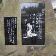 霧濃き多摩川と神炊館の芭蕉